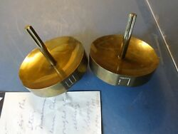 MERLE STEIR SIGNED N.Y.C. M.O.M.A. Hand made Dreidel pair and signed note 1976