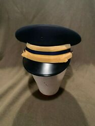 Vintage Military Us Army Aviation Officers Dress Cap Hat Kingform Deluxe 6 7/8