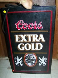 Coors Banquet Beer Extra Gold Plastic Lighted Sign
