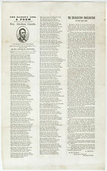 Abraham Lincoln Mourning Broadside - Very Attractive, With Vignette 1865
