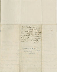 Andrew Jackson Endorsement Signed With Initials On Letter Re Hermitage