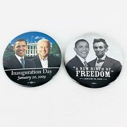 Obama Inauguration 2009 Pinback Button Freedom First Term Inaugural Lot Of 2