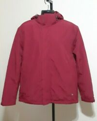 Mens Lands End The Squall Waterproof Windproof Red Jacket Size L 42-44 Euc