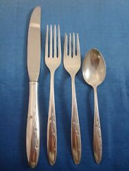 Celeste By Gorham Sterling Silver Flatware Set Service 38 Pieces Modern 1950and039s