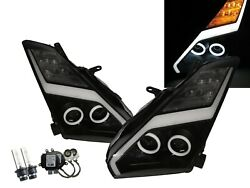 Skyline R35 07-19 Coupe Cotton Halo Projector D2s Headlight Black For Nissan Lhd