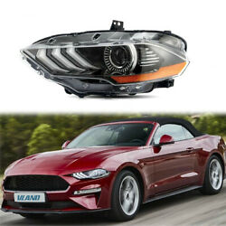 Left Driver Side Front Drl Led Headlight For 2018 2019 Ford Mustang