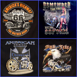 Harley Davidson T-Shirts MensGraphic Tee's Many More Route 66 $16.99