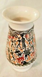 Greek Pottery / Vase / Display Piece Hand Made And Painted In Greece By Kepameikh