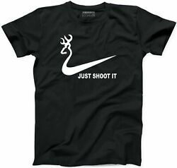 Just Shoot It Hunting T-Shirt Deer Hunter Funny Slogan Hunt Buck New Gift Shirt