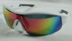 NEW GSX5D GANDER MOUNTAIN SATIN WHITE-MULTI MULTIFLECION SUNGLASSES AUTHENTIC