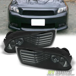 Smoked 05-10 Scion Tc Bumper Driving Fog Lights Lamps+switch And Bulbs Left+right