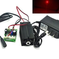 660nm 200mw Red Focusable Dot Laser Diode Module Ttl Driver W/ 12v Adapter