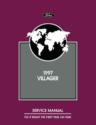 1997 Mercury Villager Shop Service Repair Manual