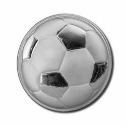 2016 Monarch 1 Oz Proof Like Silver Round Domed Soccer Roll Of 20 Coins 20 Oz