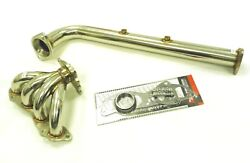 Obx Stainless Exhaust Header For 2007-2009 Honda Cr-v 2.4l Fwd And Awd