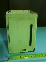 Vintage Toy Refrigerator Tin Metal 50and039s Dolland039s Toy Original Part Of Kitchen Set