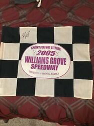 Williams Grove World Of Outlaw Sprint Cars Victory Lane Flag Pa Posse Rahmer