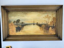 Vintage,original Ann Dyer Oil On Canvas,luminous Treatment Of Water And Light