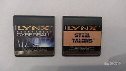 Atari lynx Game Combo Steel Talons and Tournament Cyberball 2 for price of 1