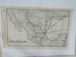 Original Map Of The Mexican Central Railway 1904