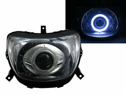 Force 1999- Motorcycles Cob Projector Headlight Chrome For Yamaha
