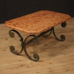 Coffee Table Living Room Table Furniture In Iron With Marble Top Modern Design