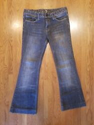 7 For All Mankind Jeans Gray Riveted Waist Denim Womens Size 27/28