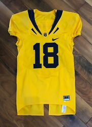 Mike Mohamad 2009 Cal Bears Golden Ncaa Football Game Worn Used Jersey Nfl