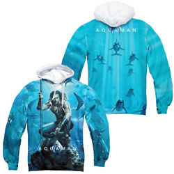 Aquaman Movie Movie Poster Dye Sublimation Hoodie Or Long Sleeve T-shirt