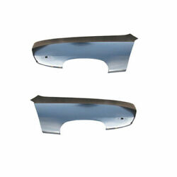 New Goodmark Front Set Of 2 Lh And Rh Side Fender Steel Fits Plymouth Barracuda