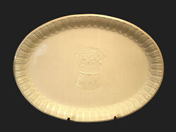 White Embossed Wheat By Williams Sonoma Oval Serving Platter 21 7/8 Italy