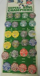 Dallas Cowboys Packers Steelers Vintage Nfl Super Bowl 1-24 Button Collection