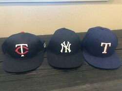Yankees And Twins Hats Are Adjustable Texas Rangers Hat Is Non Adjustable 6