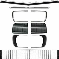 Oer Rs Grill Kit With Silver Trim And Headlamp Bezels 1967-1968 Chevy Camaro