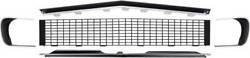Oer Rs Grill Kit W/o Silver Trim With Headlamp Bezels 1967-1968 Chevy Camaro