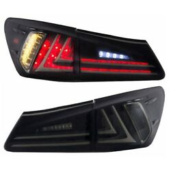 Smoked Led Tail Lights Rear Lamp Assembly For 2006-12 Lexus Is350 Is250 One Pair