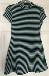 Free People FP Beach quot;On the Linequot; Striped Mock Dress Mint Navy Size XS $19.99