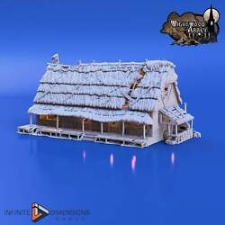 Thatched Longhouse Wightwood Abbey Wargaming Terrain Dandd, Dnd, Warhammer 40k