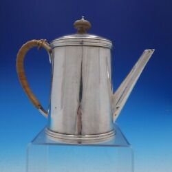 Guillaurme Corne Of Paris French Silver Tea Pot With Wood Accents 4252