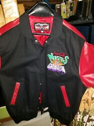 Coca Cola Monsters Of The Gridiron Leather Jacket