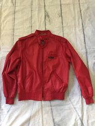 Vintage Members Only Red Jacket By Europe Craft Classic Design Zip Womens  1112