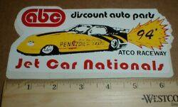 Vtg Old Atco Dragway Pennzoil Oil 1994 Drag Racing Decal Sticker Waterford Nj -b