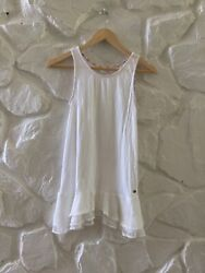 435 Matilda Jane White Thatched Roof Top Extender Tank Top 14