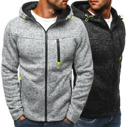 Men Warm Hoodie Hooded Sweatshirt Coat Jacket Outwear Jumper Winter Sweater Tops