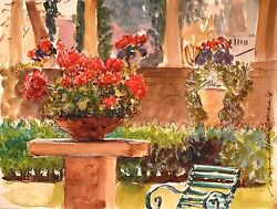 Stunning Doranne Alden Original May This Day Last Forever Watercolour Painting