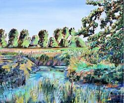 New Pete Davies Original A Farm In West Sussex Country Life Oil Painting
