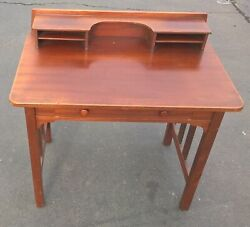 Early Stickley Brothers Quaint Furniture Writing Desk Grand Rapids Table 1900's