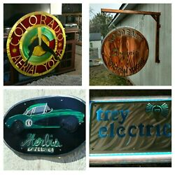 Rustic Signs Custom Metal Sign Wall Art Large Indoor Outdoor Signage Led Lit Art