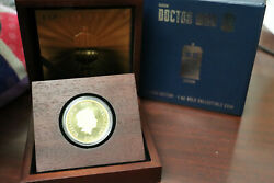(QC)2013 Niue Doctor Who 50th Anniversary Tardis $200 Gold Proof Coin Box