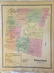 Union Vale And Verbank, Dutchess County, Ny 1867 Lithograph By F.w. Beers